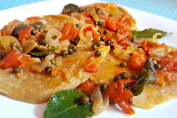 Filetto di muscolo di grano con salsa al pepe verde