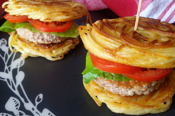 Spaghetti burger all'italiana