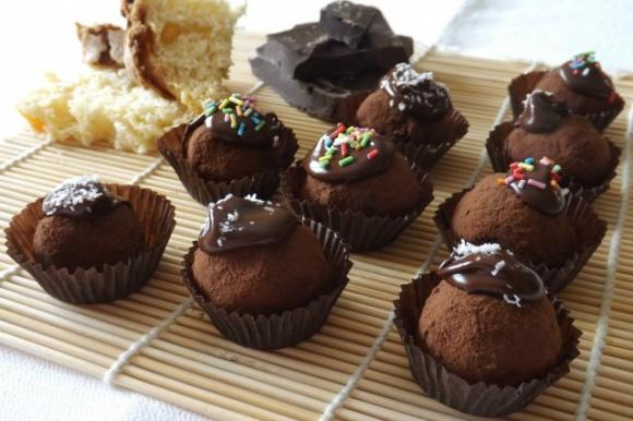 Tartufini cioccolato e colomba