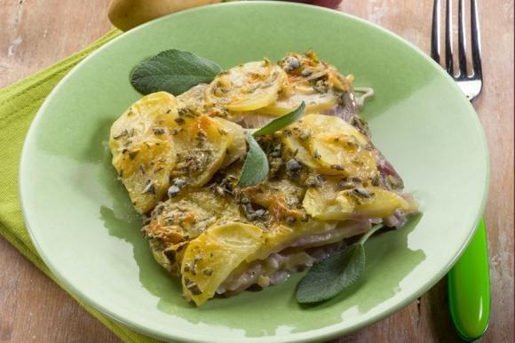 Lasagne di patate e cipolle
