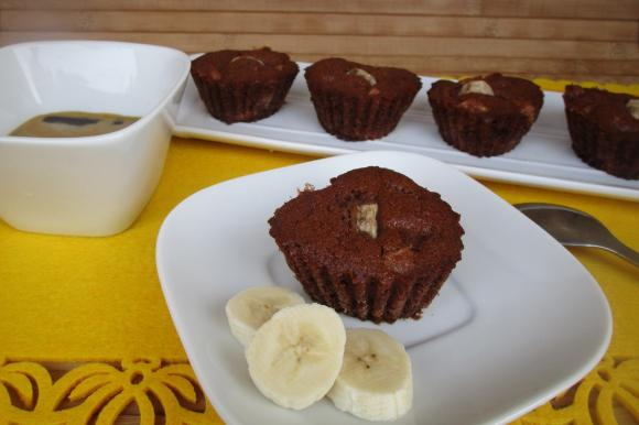 Muffin burrosi cacao e banana