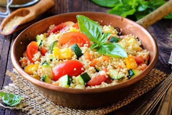 Couscous zucchine e peperoni