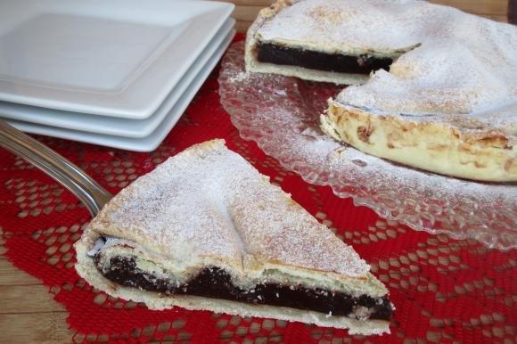 Crostata con crema al cacao