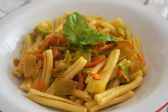 Casarecce Con Pomodori E Fiori Di Zucca Fidelity Cucina