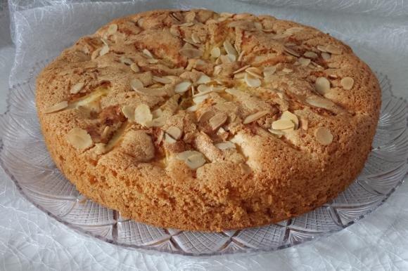 Torta mele e mandorle senza burro e olio