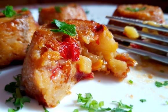 Tortini di patate e peperoni