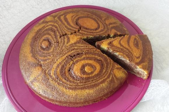 Torta bicolore senza burro