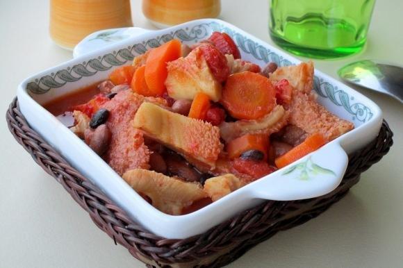Trippa con carote e fagioli