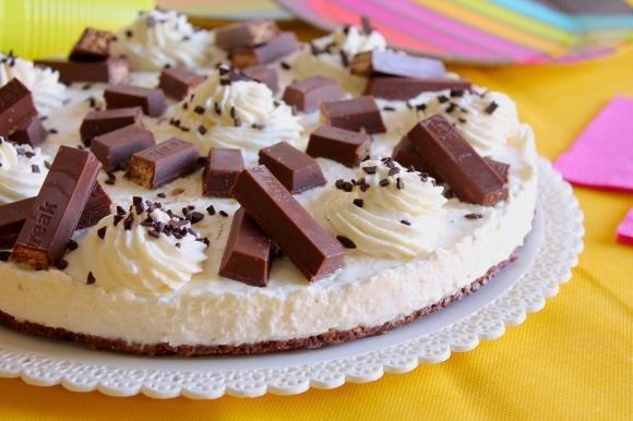 Cheesecake con KitKat