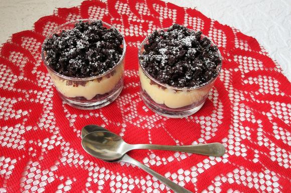 Dessert mimosa al cioccolato