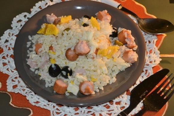 Insalata di riso con frittata