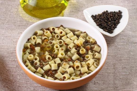 Pasta e lenticchie senza pomodoro