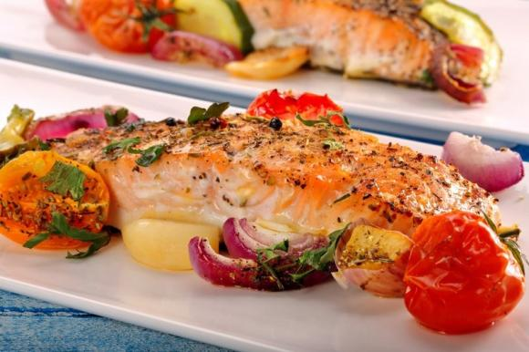 Salmone al forno gratinato