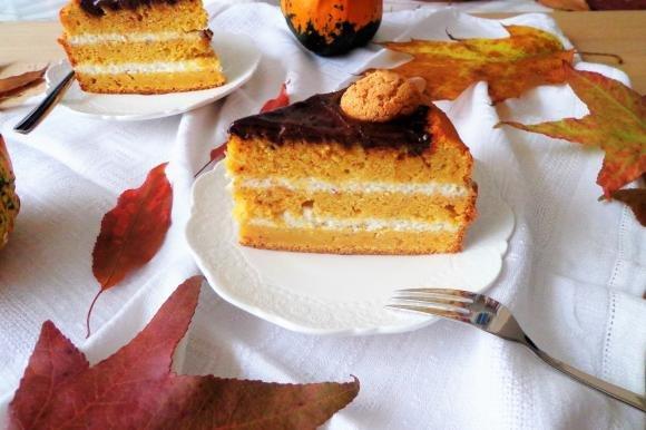 Torta di zucca con crema di mascarpone