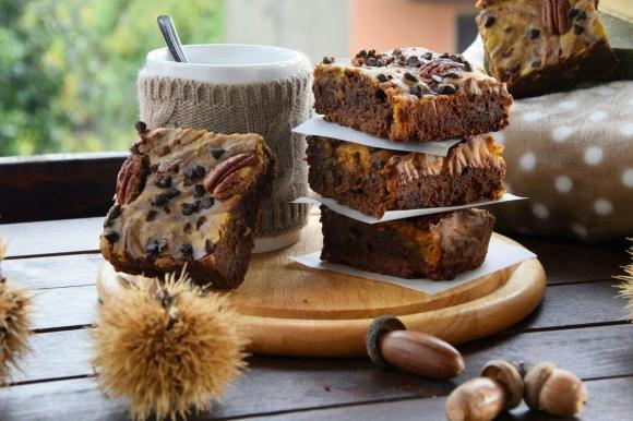 Brownies alla zucca e cioccolato