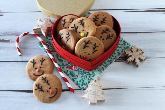 Biscottini renna di Babbo Natale