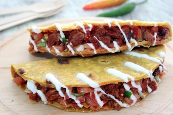 Tacos messicani con carne