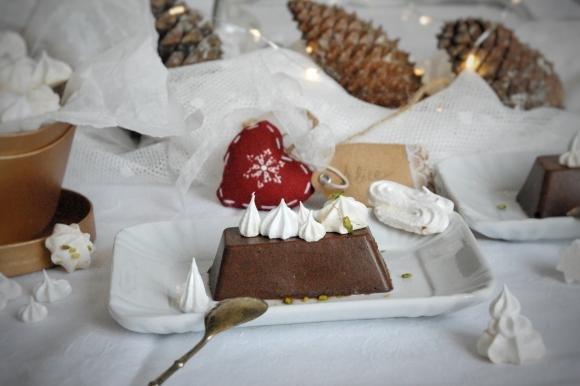 Mattonelle di castagne e cioccolato fondente