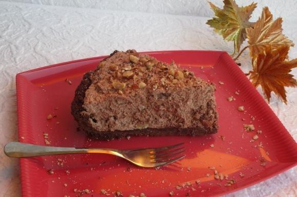 Torta mousse cioccolato e nocciole