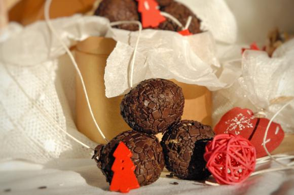 Tartufini cioccolato, castagne e amarene