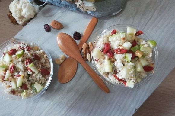 Couscous di cavolfiore bianco e frutta secca