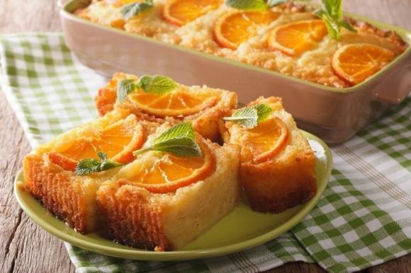 Torta all'arancia cremosa