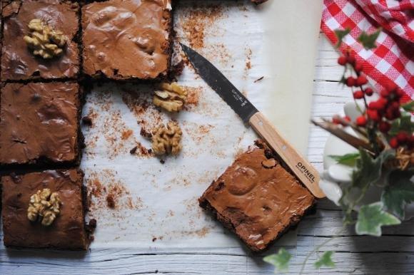 Brownies al cioccolato fondente e noci