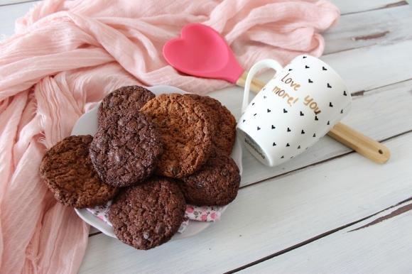 Cookies al cioccolato fondente senza burro