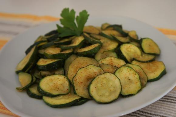 Zucchine piccanti in padella