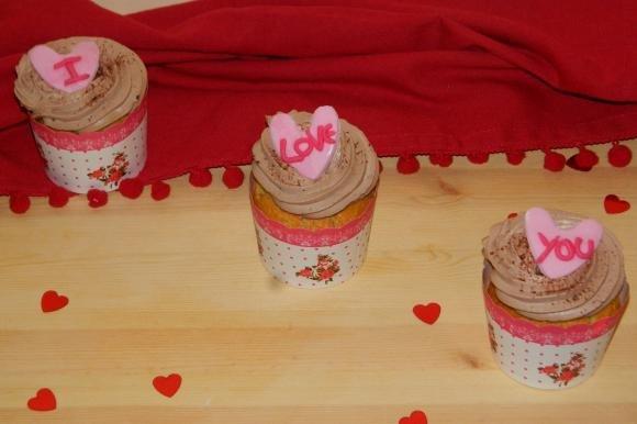 Cupcake cocco e nutella di San Valentino