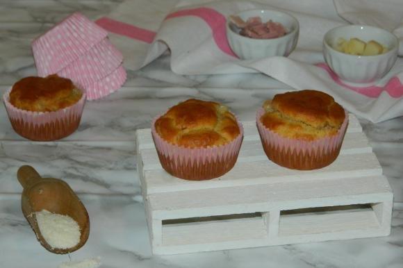 Muffin salati prosciutto e scamorza