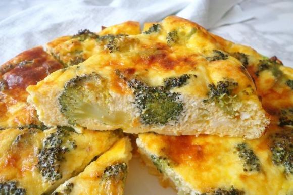 Frittata al forno con broccoli e ricotta