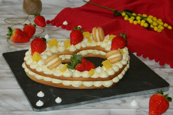 Cream tart mimosa