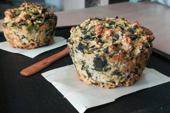 Muffin salati ai fiocchi d'avena