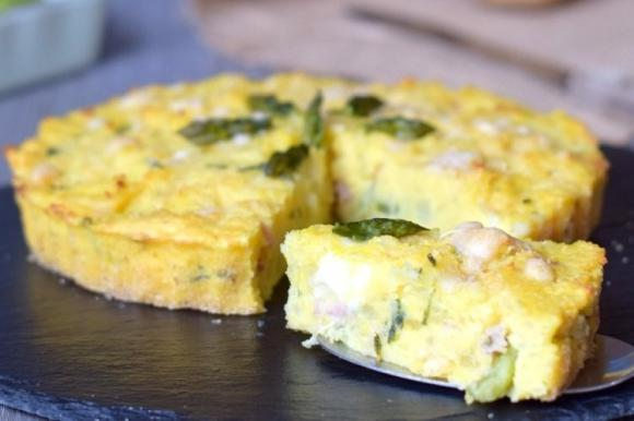 Sformato di patate e asparagi con scamorza e pancetta