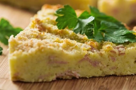 Gateau di patate Bimby con prosciutto e formaggio