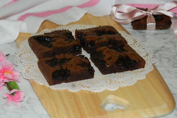 Brownies con marmellata