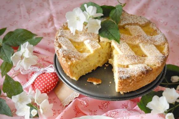 Crostata di crema e grano saraceno