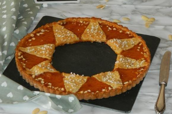 Crostata sole con marmellata