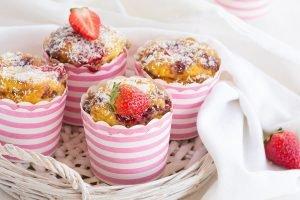 Muffin fragole e cocco