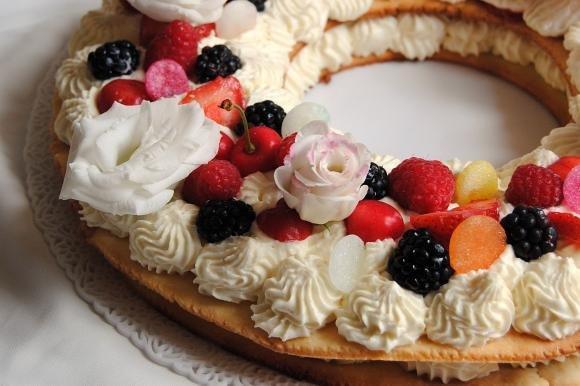 Cream tart con frutti di bosco