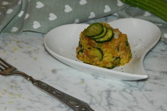 Timballo di riso con zucchine e carne