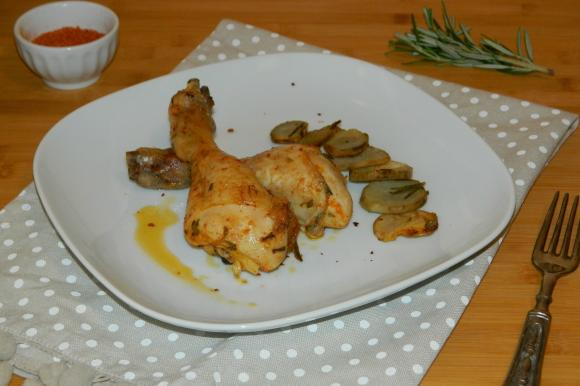 Pollo piccante con patate
