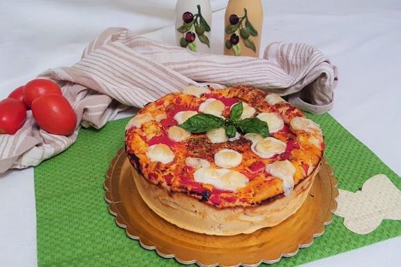 Torta pizza margherita