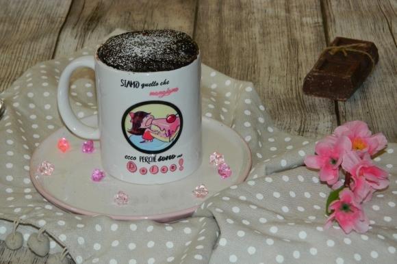 Mug cake al cioccolato al latte