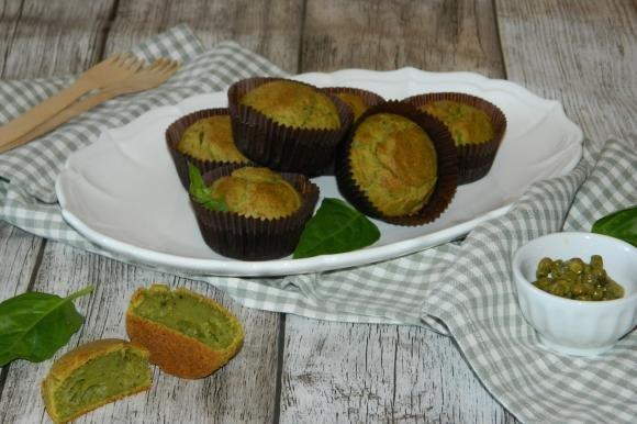 Muffin ai piselli e pesto