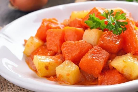 Patate e zucca in agrodolce