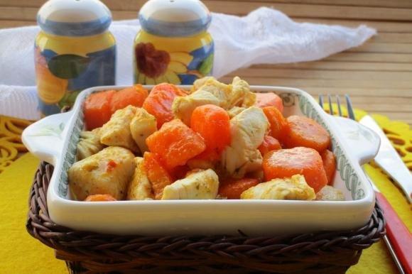 Spezzatino di pollo e carote alla birra
