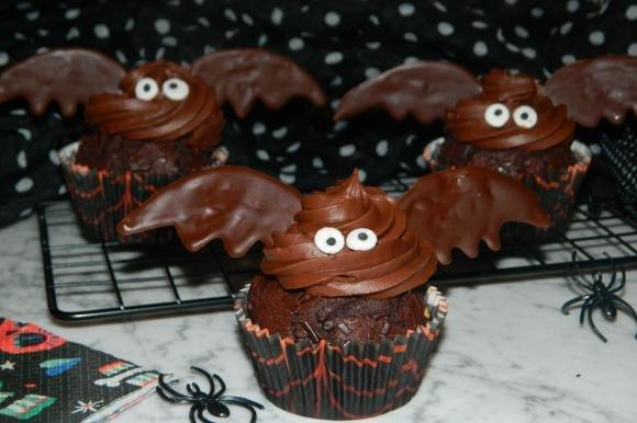Cupcake pipistrello al cioccolato