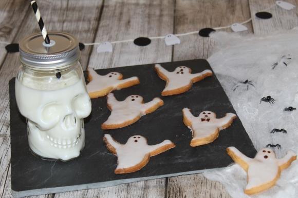 Biscotti fantasmi glassati